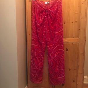 Victoria's Secret sheer tie front pants /coverup L